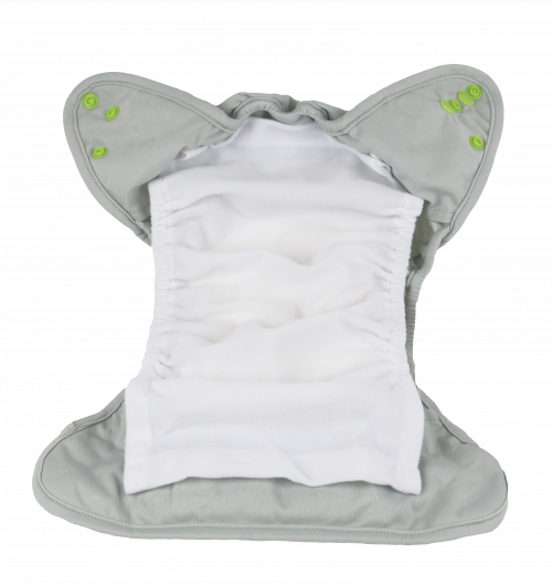 Lay Stay Dry Liner on top of Diaper